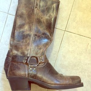 Frye harness boots!
